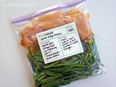 Make-Ahead Crockpot Apricot Ginger Chicken with Green Beans