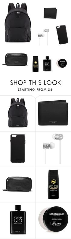 """""""Casual Bag 1"""" by fakemailforfashion ❤ liked on Polyvore featuring Burberry, Michael Kors, Beats by Dr. Dre, FOSSIL, Axe, Giorgio Armani, Baxter of California, men's fashion and menswear"""