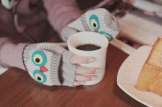 Even little owls like to wake up to the smell of coffee.
