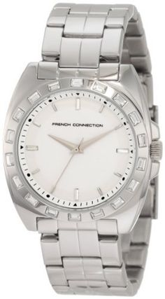 French Connection Women's FC1041S Classic Round Stainless Steel Crystals Watch French Connection. $127.97. Mineral glass; 24 months international warranty. Water-resistant to 330 feet (100 M). Quartz movement. Czech crystals. Stainless steel case and bracelet