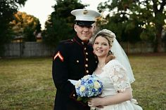 Our wedding. Aint he handsome in his uniform?