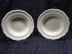 ON SALE Mikasa Ultima + China Antique White Soup Salad Bowls HK400 TWO EXCELLENT! #Mikasa