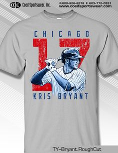 Kris Bryant, Chicago Cubs Star MLBPA PLAYER Shirt  MLB942G #MLBPA #ChicagoCubs