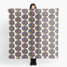 'Flower Bouquets ' Scarf by Laurajart Buy Flowers, Bright Flowers, Scarf Design, Flower Bouquets, Free Stickers, Large Prints, Fancy, Colours, Printed