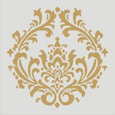Damask 4.3 Stencil Design / 6 Sizes Damask Pillows French Signs Fabric Stencils