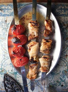Jujeh Kabab (Spiced Chicken and Tomato Kebabs) | SAVEUR