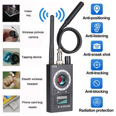 TYZEST Anti Spy Detector Camera Finder RF Signal Detector GPS Bug Detector for GSM Tracking Device and Wireless Audio Bug Hidden Camera *** More info could be found at the image url. (This is an affiliate link)