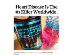 Heart Disease Is The #1 Killer Worldwide. EPXBody Cardio is formulated off the winning 1998 Nobel Prize for Medicine. Scientific research showed that two amazing amino acids L-Arginine and L-Citrulline when combined create Nitric Oxide in the body. This tiny 'miracle molecule' can actually prevent or even reverse #heartdisease