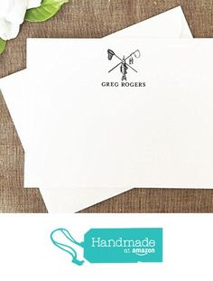 Personalized Mens Stationary Set Deer Hunter Buck Personalized Stationery Gift for Men