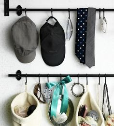 FINTORP rails and hooks - Make good use of the wall space in your bedroom by hanging your jewelry and accessories.