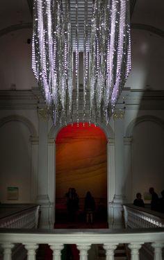 Leo Villareal's Dazzling Light Sculpture Revealed at Renwick Gallery | See more articles here http://www.delightfull.eu/en/news/