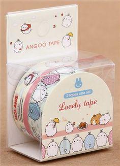 cute Molang bunny decoration Masking Tape deco tape set 2pcs 2