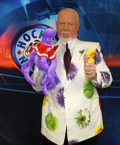 Like them or loathe them, the outlandish outfits of Don Cherry and Craig Sager represent a broader fashion frontier for men everywhere. Hockey Coach, Bruins Hockey, Hockey Players, Ice Hockey, Don Cherry, Cherry On Top, Crazy Man, The Better Man Project, People Of Interest