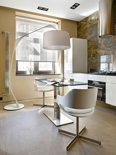 34 Square Meters in Moscow by Max Kasymov (4)...Super modern dinning and kitchen
