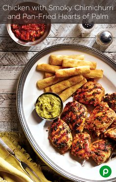 Those hard-to-satisfy party guests will meet their match when your Chicken with Smoky Chimichurri hits the grill. But, it's the Pan-Fried Hearts of Palm from Publix Aprons that will push their satisfaction over the edge. #Contest