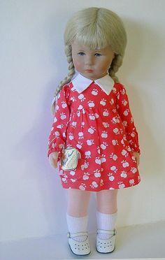 "Vintage 1980s Kathe Kruse 18 1 2"" Girl w Braids Tag Box   eBay"