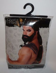 Game of Thrones Khal Drogo Wig and Beard Licensed Exclusive 01254481 New Spirit #Spirit