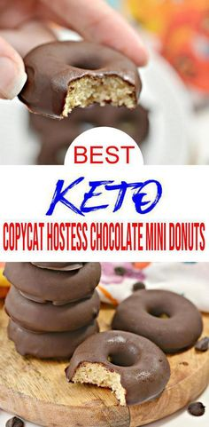 Dairy Free Donuts, Sugar Free Donuts, Keto Donuts, Paleo Pancakes, Mini Donuts, Low Carb Chocolate, Chocolate Treats, Chocolate Recipes, Paleo Donut