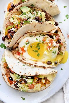 Breakfast Tacos Recipe for breakfast, brunch or dinner | foodiecrush.com
