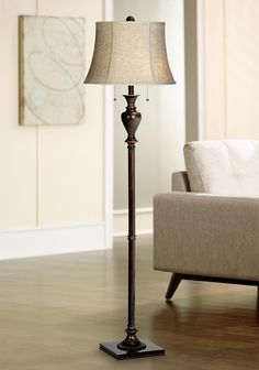 Bronze Tortoise Shell Font Floor Lamp by Barnes and Ivy | Shells ...