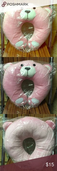 Kawaii Bear Neck Pillow A cute pink bear neck rest pillow. New in packaging. It's not the very stiff kind, more like plush material. No name brand, not from Sanrio, but still very kawaii. (Check out my other kawaii gift ideas) Questions welcomed. Sanrio Bags