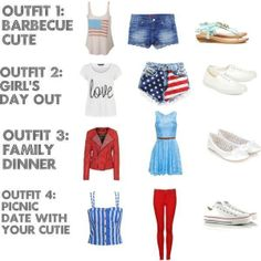 Fourth of July Outfit Ideas! by queenofquirk on Polyvore