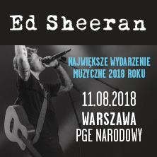A very unique shot of Ed Sheeran caught from the ticket purchase site for his 2018 dates in Poland