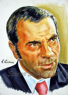 Στέλιος Καζαντζίδης πορτραίτο-αφίσα, αυθεντικός πίνακας ζωγραφικής, πόστερ