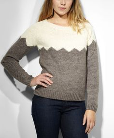Levi's Intarsia Pullover - Seedpearl & Sandy Brown - Sweaters