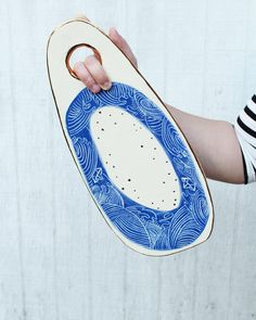 Tsunami wave sushi platter from the Auric Blue Collection by clear blur design