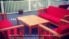 Free DIY Furniture Plans // How to Build a Rocking Chair - The Design Confidential Funky Painted Furniture, Decoupage Furniture, Painted Chairs, Furniture Projects, Painted Tables, Furniture Design, Chair Design, Design Design, Modern Furniture