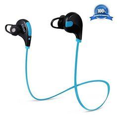 Atill Bluetooth Stereo Headphones Wireless Stereo Sports In-ear Earbuds with Built-in Microphone