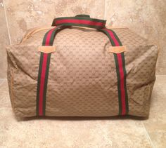 AUTHENTIC Vintage Gucci DUFFLE Bag by CandyHeartGirl on Etsy, $275.00
