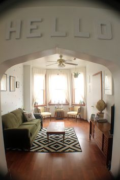 radical possibility: Before and After- A Living Room Makeover