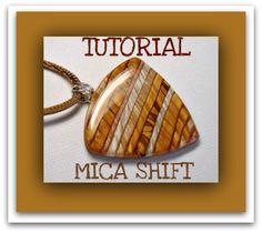 Mica Shift Tutorial Polymer Clay Pendants tutorial Beginner