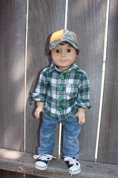 """Custom American girl """"boy"""" doll"""
