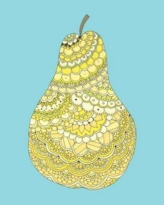 zentangle pear: #zentangle #drawing #line