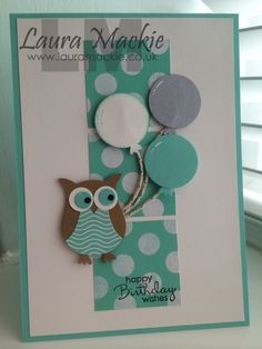 images of birthday cards with Stampin Up Owl Punch   Stampin Up Owl Happy Birthday