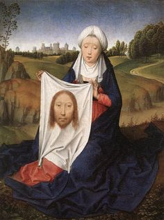 ❤ - HANS MEMLING (1430 - 1494) - St John and Veronica Diptych (detail).