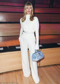 Stunning beauty: Earlier in the evening, she was spotted attending the Brandon Maxwell show