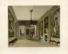 """English Historical Fiction Authors -- """"The tax which Greatness pays for its station"""": celebrating the Royal Birthday in Britain by Jacqueline Reiter. (Image is Queen's Levee Rooms [Pyne's Royal Residences,"""