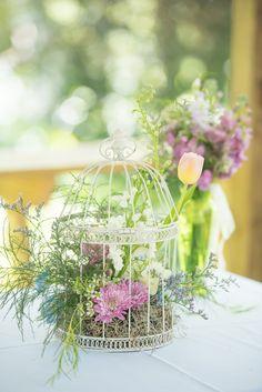 Monet Inspired Wedding Centerpiece | Corner House Photography on @savvybride via @aislesociety