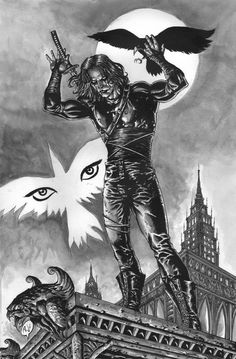 Final Art for a commission requested by a dear friend of mine. The CROW who I loved drawing and will probably do so again. The Crow created by James O'Barr CROW Inkwash Brandon Lee, Bruce Lee, Crows Drawing, Crow Movie, Teen Titans Starfire, The Crow, Horror Artwork, Crow Art, Movie Poster Art