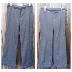 """Summer SALE >>2 pairs Gray ladies slacks My Michelle size 3 & Hillard & Hanson size 4. Both are 30"""" waist with 27"""" inseam. Bought for professional work but never wore them. New w/o tags. Both grey one has silver thread that gives it a silver pinstripe look. My Michelle Pants"""