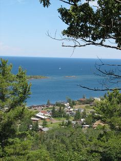 View of Copper Harbor, UP of  Michigan, from Brockway Mountain