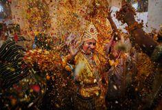 Depuis l'antiquité, la Holi est la fête la plus colorée du monde. Prochaine édition : demain !