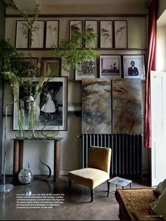 Flowers, branches and botanical prints