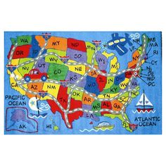 Found it at Wayfair - Fun Time Travel Map Area Rug