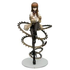 This fantastically intricate figure of Kurisu Makise from the hugely popular visual novel from Nitroplus and the much-loved anime Steins;Gate is based on the cover of the limited edition Xbox 360 edition of the game! Perched on the cogs so familiar from the opening of the anime with her cell phone floating down below her, Makise has a far-off, pensive look that will certainly make sense to fans of...