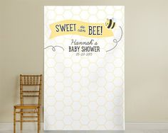 Sweet as can Bee Personalized Honeycomb Photo Backdrop